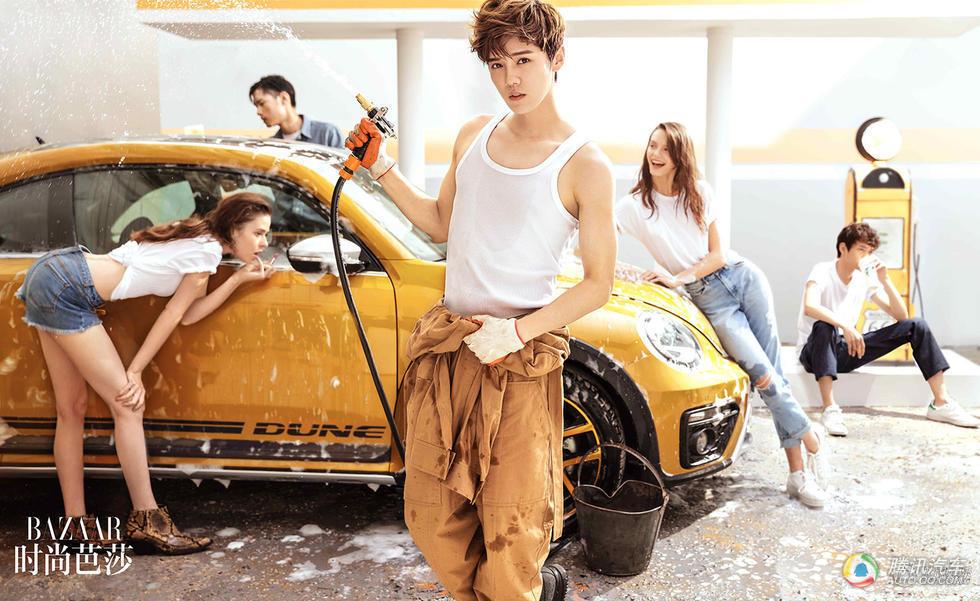 鹿晗拍写真变洗车工 秀身材让迷妹沸腾了