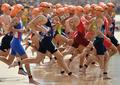 高清:女子铁人三项决赛 美国约根森斩获金牌