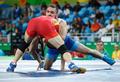 高清:男子自由摔跤65kg 叶尔兰别克无缘八强