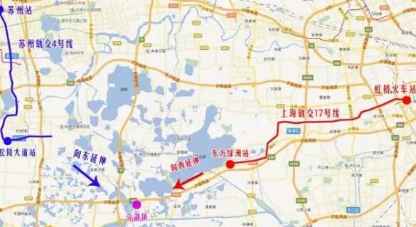 上海11和17号线可望接轨苏州轨道S1线和4号线图片