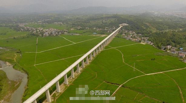 西成高铁建设已完成8成 2017年底正式开通运营 组图