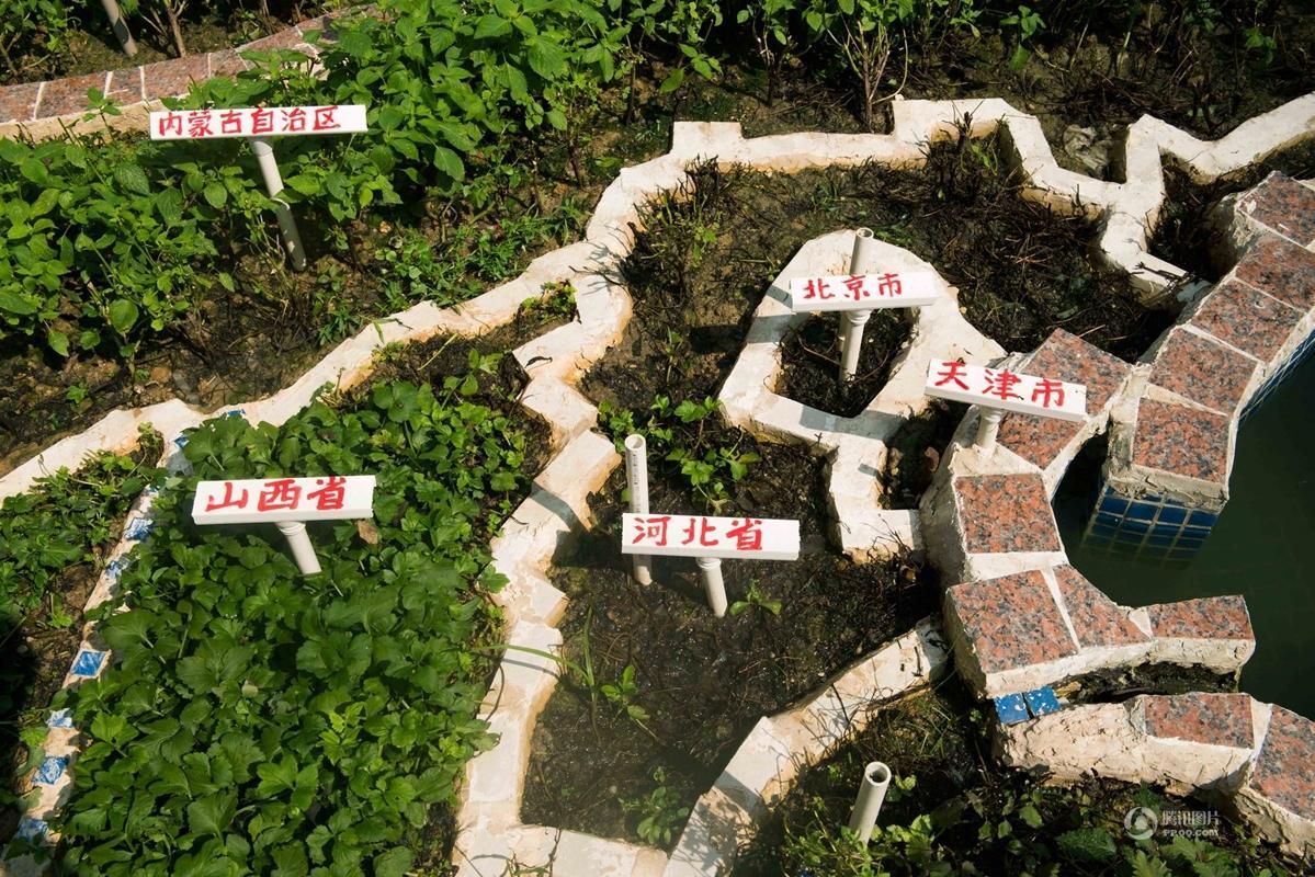 75岁退休教师在阳台建巨幅中国地图模型