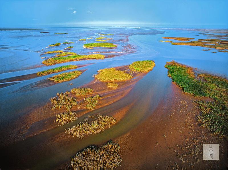 从空中看中国:黄河入海口,这里的陆地 - 海阔山遥 - .
