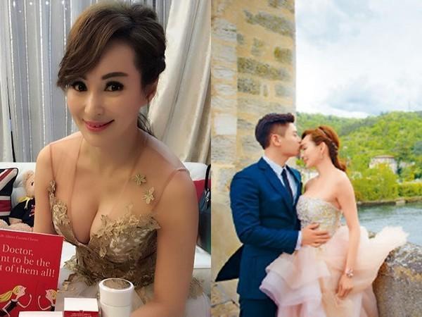 51岁美魔女传嫁小鲜肉富二代 性感婚纱照曝光