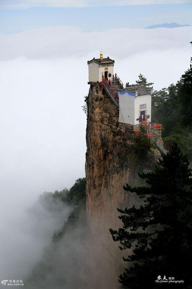 陕西最险道观 孤悬绝壁之上 - 海阔山遥 - .