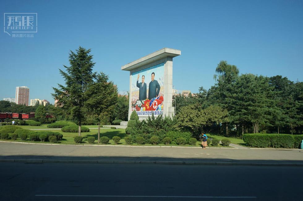 朝鲜城乡车少人稀 领袖像无处不在 - 海阔山遥 - .