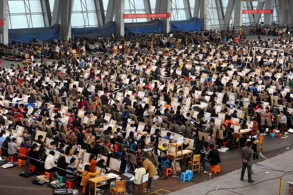 湖北2000多名考生同场作画备战艺考2016.10.31 - fpdlgswmx - fpdlgswmx的博客