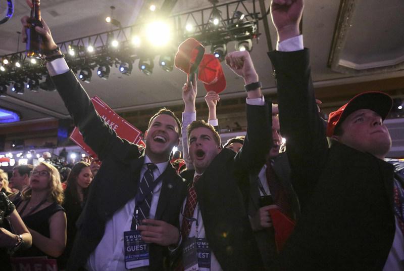特朗普击败希拉里当选美国总统(图集)