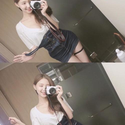 韩国自拍主播长腿美胸标准美女v自拍美女图片