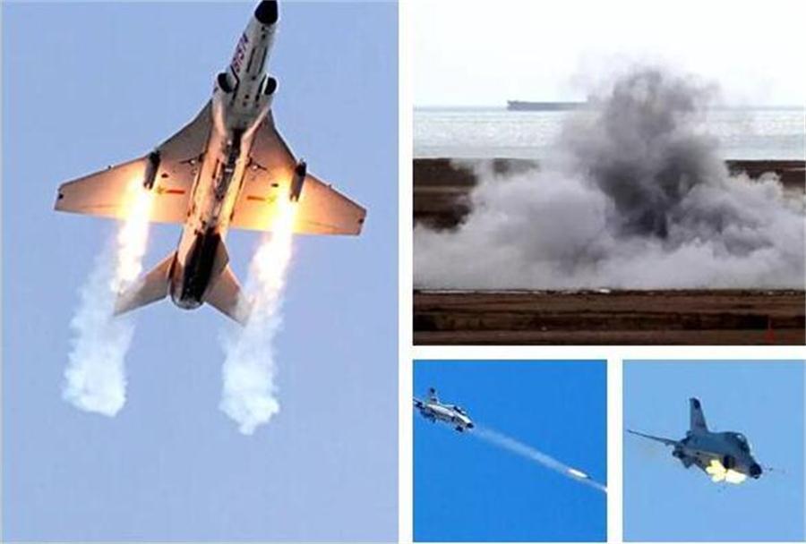 解放军海军山鹰打靶机炮火箭巢猛开火2016.12.6 - fpdlgswmx - fpdlgswmx的博客
