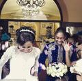 组图:南非双性田径冠军大婚 与新娘青梅竹马