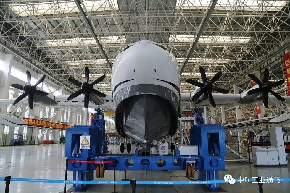 组图:中国又一款大飞机来了 AG600两栖飞机已交付