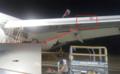 组图:巴西一航空公司客机飞行中机翼被流弹击中