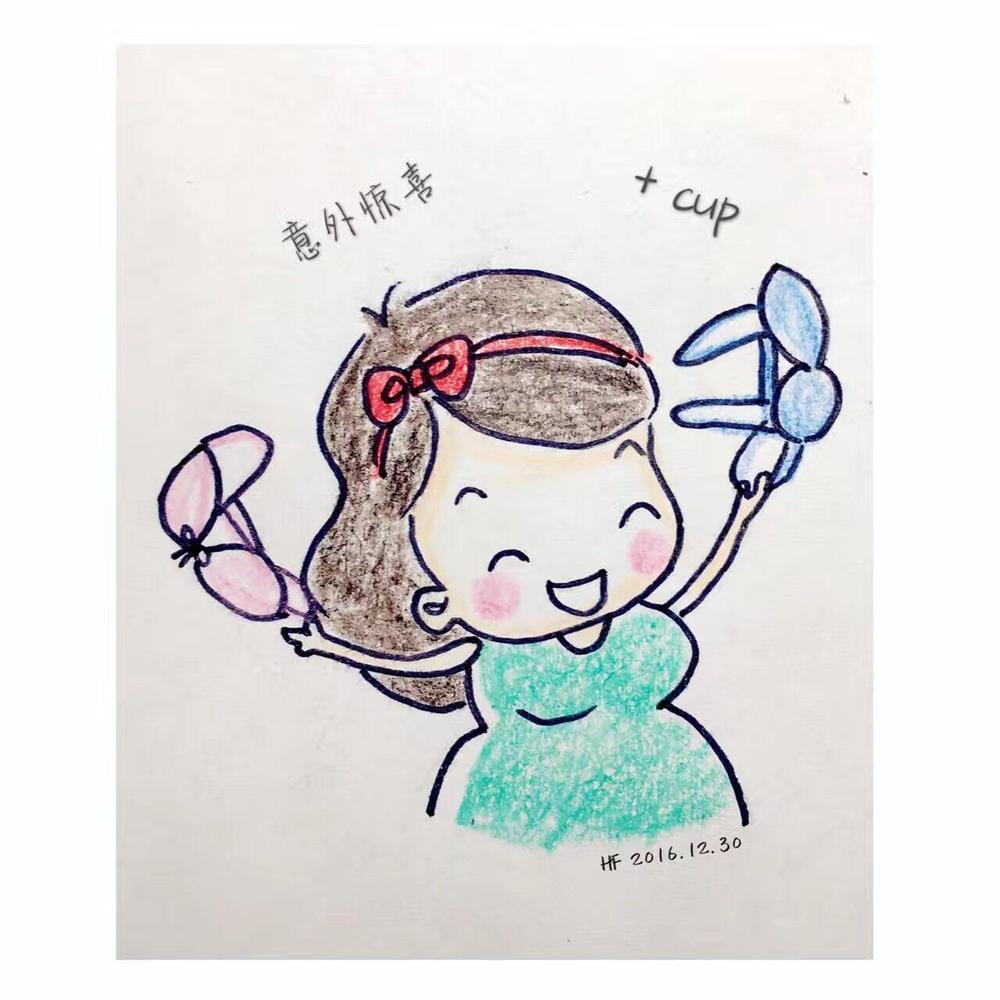 武汉美女模特手绘孕妈日记 记录怀孕心路历程