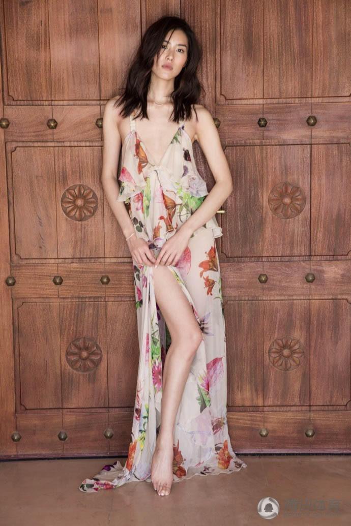 超模旗袍手绘图