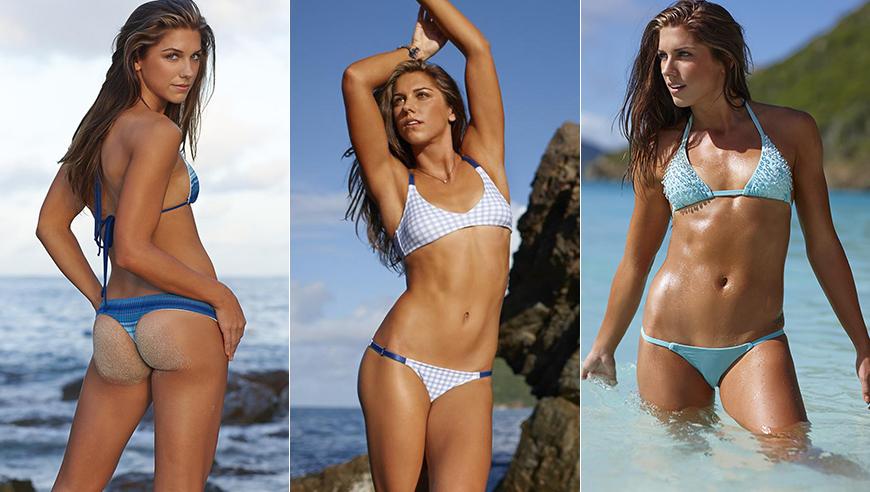 【泳装女神】女足圈最完美肉体!摩根泳装出镜