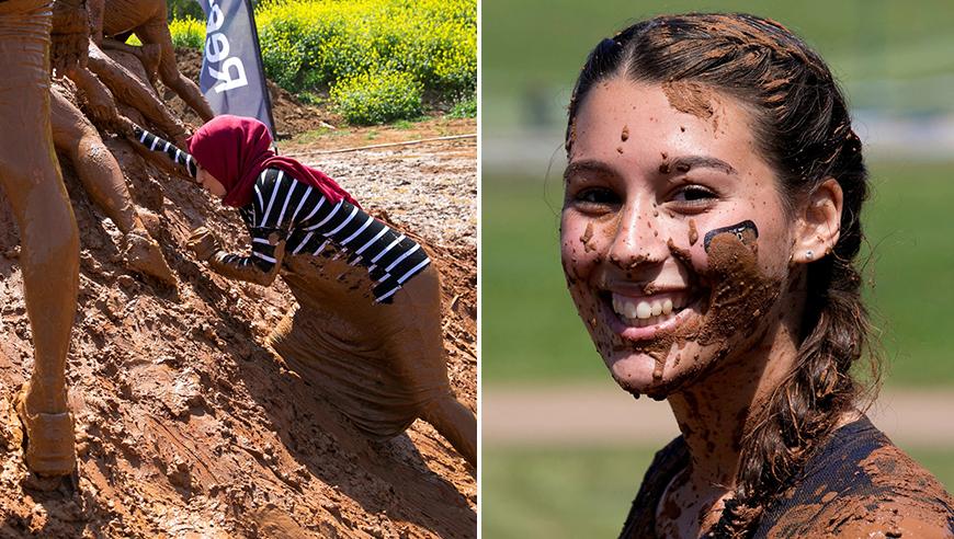 高清:疯狂泥巴障碍赛!超美女选手参赛吸睛