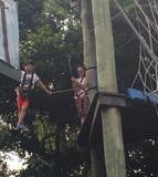 张柏芝带儿子玩高空挑战 Lucas大长腿实力抢镜