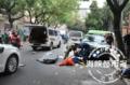 福州面包车连撞多车 路边80岁老太太身亡