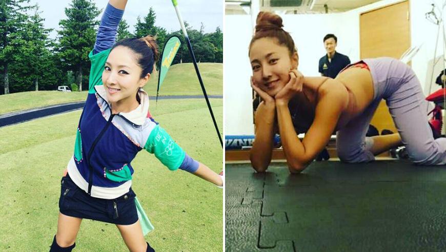 高清:日本清纯高球美女!健身大秀性感翘臀