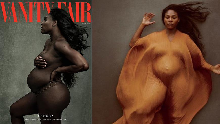 组图:小威孕照登杂志封面 诠释孕妇也能性感