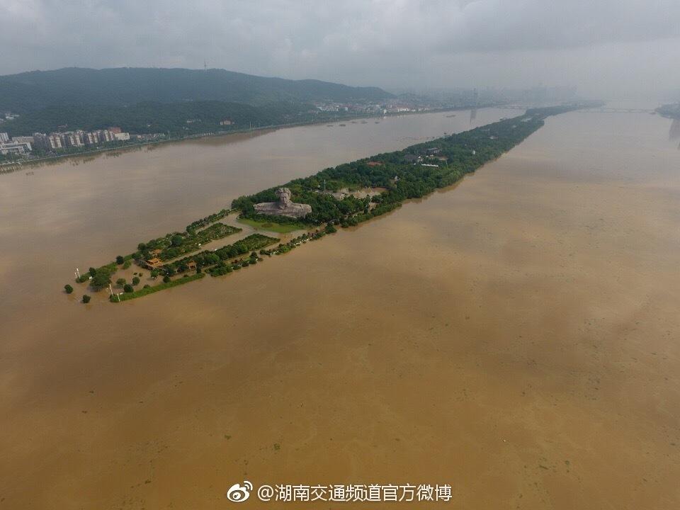 """长沙""""告急"""":橘子洲被洪水贯穿2017.7.3 - fpdlgswmx - fpdlgswmx的博客"""