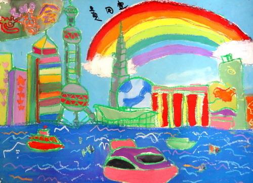 山区儿童绘画作品