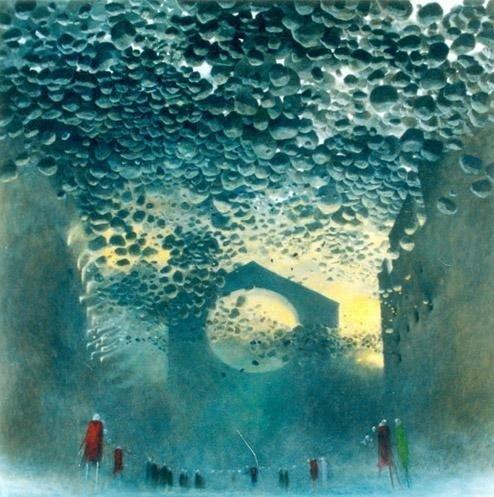 植物人醒来后 画出了死后的世界 - 深海 -