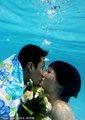 游泳亚运冠军水下婚礼