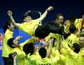 国羽疯狂庆祝苏杯夺冠