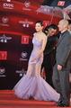 第十四届上海电影节红毯 张雨绮穿透视裙亮相