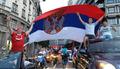 塞尔维亚人疯狂庆祝
