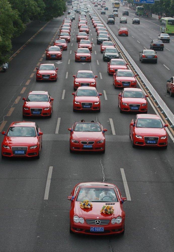 北京35辆奥迪婚车穿越长安街 - 海堂同乐  小车圣会 - 《海堂同乐 小车圣会》 博客
