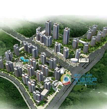 斌鑫西城绿锦位于重庆市中梁山华岩新城华龙大道,占地面积高清图片