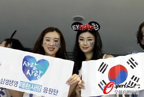 上海游泳世锦赛 韩国美女助威团助威朴泰桓