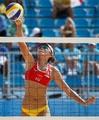 组图:女子沙排小组赛中国不敌巴西 宝贝助威