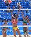组图:大运女子沙排小组赛 中国1队一胜一负