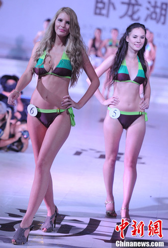 白俄罗斯姑娘摘得世界比基尼模特大赛桂冠