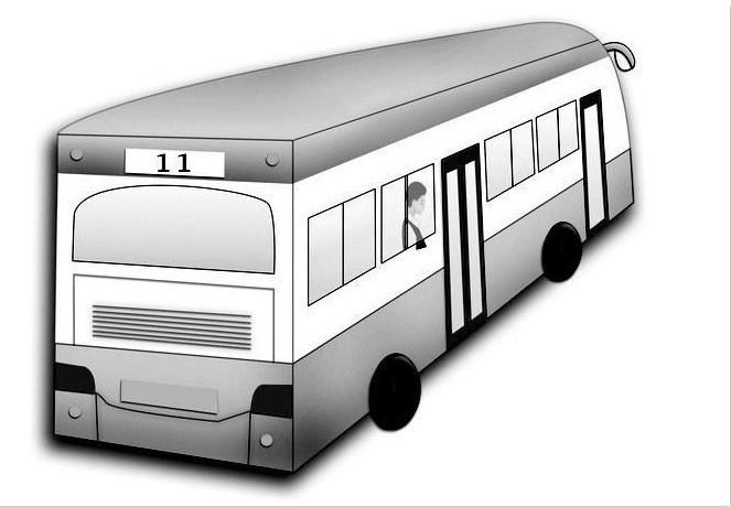 公交车 卡通画