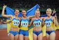 组图:大运4x100米 乌克兰队清一色美女夺冠