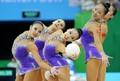 组图:大运艺术体操5球决赛 中国队夺冠