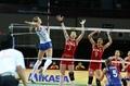 中国女排0-3俄罗斯