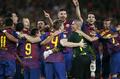 组图:西班牙超级杯决战 巴萨大胜皇马夺冠军