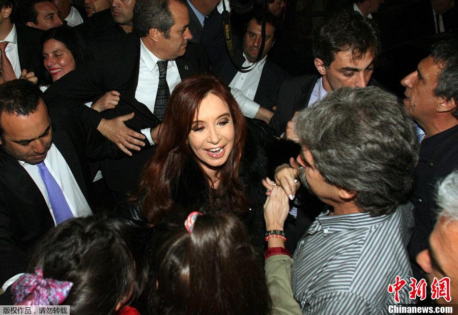 阿根廷现任女总统、阿根廷执政联盟候选人克里斯蒂娜·费尔南德斯