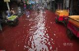 """孟加拉国首都街头暴雨过后""""血流成河"""""""