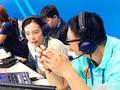 高清:吴敏霞现身游泳世锦赛 参与解说工作