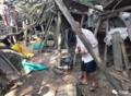 漳州一65斤大蟒蛇被困鸭舍 比成人大腿还粗