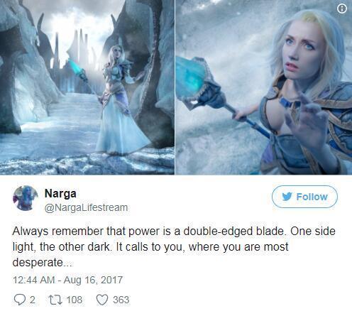 《炉石传说》官方Cosplay 顶级冰霜女巫吉安娜