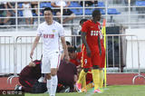 高清:赵旭日肘击对手直接染红 边退场边苦笑