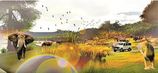 期待!武汉蔡甸西湖野生动物王国明年9月开放